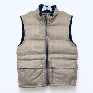 Vintage Tommy Hilfiger Plaid Puffer Vest Men Large